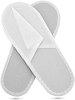 Zapatillas desechables en TNT con parte inferior impermeable 10 pares - Selladas individualmente - Disponible cerrada - Zapata desechable - Talla única - Para salones de belleza, bienestar