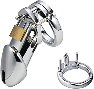 My secret life Silver Briefs 50 MM Ring Male Device Belt Cage Underwear Chastit++y Clothing Metal CB6000