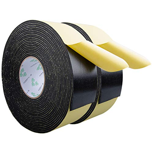 Foam Insulation Tape for Doors, Plumbing, HVAC, Windows, Pipes, Air Conditioning, Adhesive Seal Craft Tape (Craft Foam Tape - 66Ft x 1/8
