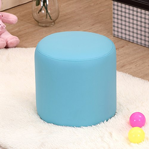 Hocker Kinder Leder Stuhl Baby Cartoon Stuhl Mode Test Stuhl 32 * 32 * 32 cm Baby- & Kindermöbel (Color : Blue)