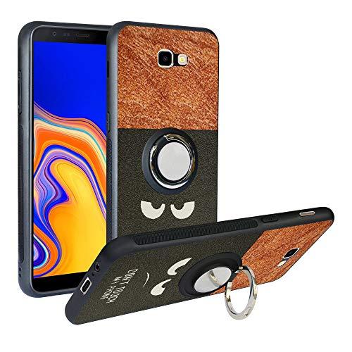 Funda para Samsung Galaxy J4 Plus, Fashion Design [Antigolpes] con 360 Anillo iman Soporte, Resistente a los arañazos TPU Funda Protectora para Samsung Galaxy J4 Prime 2018,Do Not Touch