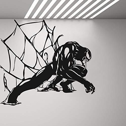 ASFGA Riesiges Monster Gift Wandkunst Aufkleber Schlafzimmer Vinyl Aufkleber Superheld Wandplakat Junge Zimmer Schlafzimmer Spiel Comicfiguren Tapete Spielhalle Geschenk 126x114