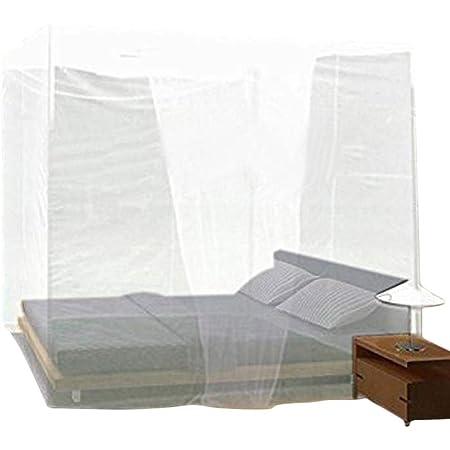 BEATON JAPAN 蚊帳 かや 吊り下げ 無農薬タイプ 虫除け対策 モスキートネット 展開サイズ:W200xD180xH200cm