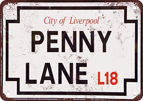 La plaque de rue en métal The Beatles Penny Lane