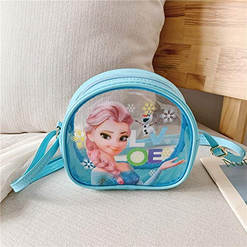 weichuang Kinder Rucksack Kinder Transparent Messenger Bag Frozen Elsa Schultertasche Mädchen Handtasche Einkaufstasche Mädchen Handtasche Kinderrucksack (Farbe: 8)