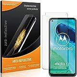 SWIDO Schutzfolie für Motorola Moto G8 [2 Stück] Anti-Reflex MATT Entspiegelnd, Hoher Festigkeitgrad, Schutz vor Kratzer/Folie, Bildschirmschutz, Bildschirmschutzfolie, Panzerglas-Folie