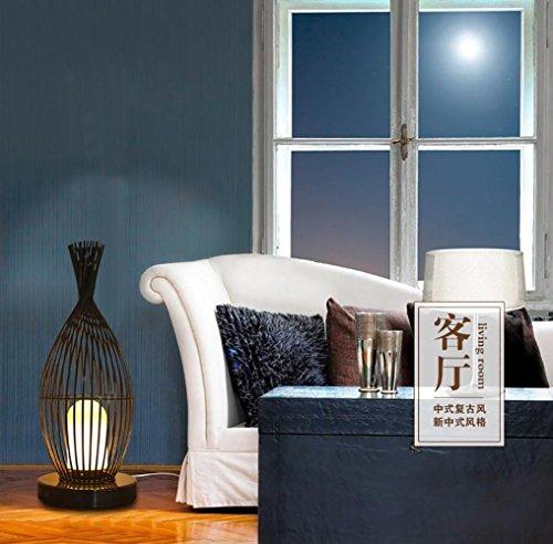 QMMCK Staande lamp ijzer Weaving Decor Linging High Grade Inbranden lak strijkijzer kwaliteit acryl lampenkap E27 220V 70Cm hoogte