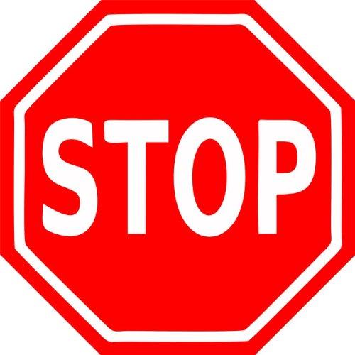INDIGOS UG Aufkleber Autoaufkleber JDM Die Hart - Stop Zeichen Sticker 127mmX127mm Folie - Auto Garage Verkehrschild
