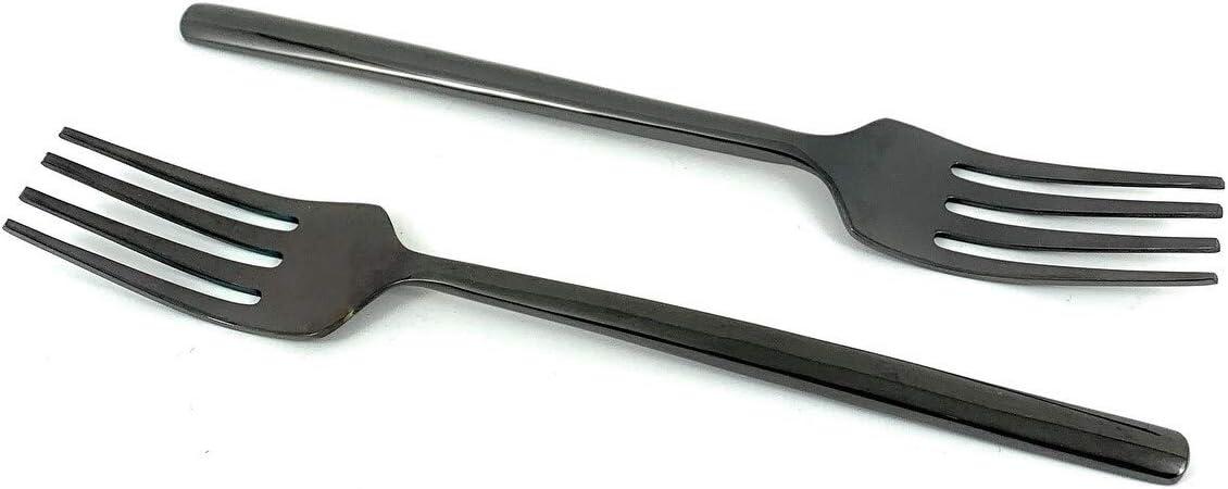 Unknown1 Stainless Steel outlet Black Salad Set service of Flatware 4 Fork