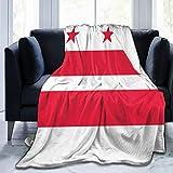 Blanket Washington Dc Flag Throw Blanket Ultra Soft Velvet Blanket Lightweight Bed Blanket Quilt Durable Home Decor Fleece Blanket Sofa Blanket Luxurious Carpet for Men Women Kids