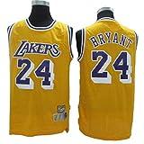 Fans Jersey All-Star NBA Kobe Bryant 24 Los Angeles Lakers Ropa De Baloncesto Clásica Cómodas Camisetas Deportivas De Malla Transpirable,Yellow-S