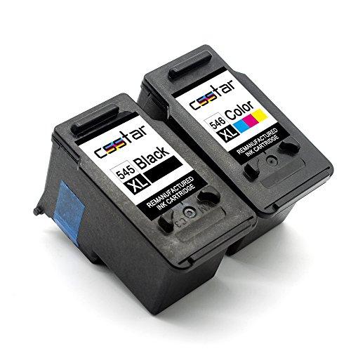 CSSTAR Wiederaufbereitet Druckerpatronen Ersatz für Canon PG-545XL CL-546XL für Pixma MX495 MG3051 IP2850 MG3052 MG2950 MX490 MG3050 MG3053 MG2555s MG2450 MG2550 MG2550S MG2950S Drucker, Schwarz Farbe