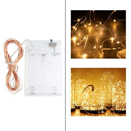 ATPWONZ 3M Led Lichterkette 30er USB Lichterkette Stimmungslichter für Zimmer, Innenraum, Party, Hochzeit, Weihnachten usw - Warmweiß   Batterienbetrieben