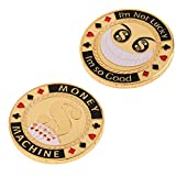 chiwanji Metal Chips Commemorative Coin Gold Plated Metal Poker Card Guard -