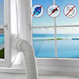 AGPTEK 400CM Window Seal for Portable Air Conditioner And Tumble Dryer,Air Exchange Guards With Zip and Hook Tape,Works with Every Mobile Air-Conditioning Unit