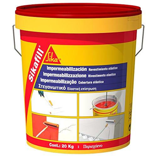 Sika M289936 - Impermeabilizante sikafill rojo 5kg rojo