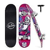 BELEEV Skateboards per principianti, 78,7 x 20,3 cm Skateboard completo per bambini ragazzi e adulti, 7...