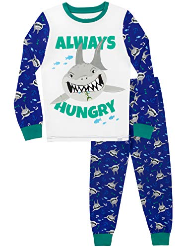 Harry Bear Pijamas Manga Larga niños Tiburones Ajuste
