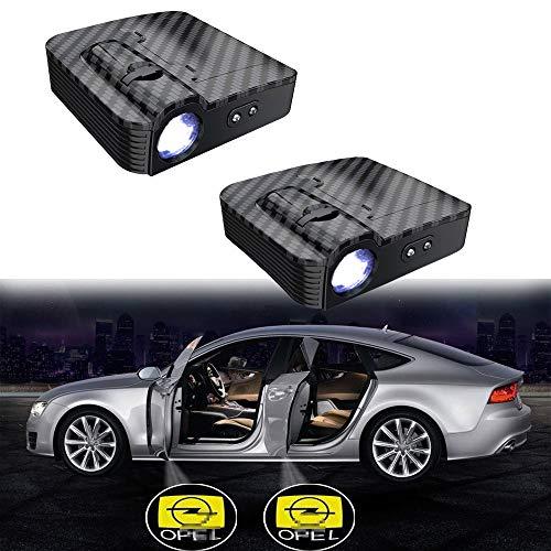 MIVISO Verbesserte Autotür Led Logo Projektor Licht Kein Magnet Drahtlose Lampe Smart Infrared Sensor Willkommen Ghost Shadow Light 2 Stücke