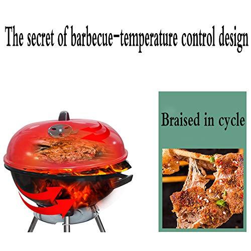 51k8uyvlKlL - YWZQ Charcoal BBQ Grill Pit, Outdoor-Camping-Kocher Garten Grill Werkzeuge Grillzubehör Kochen Werkzeuge Küchen