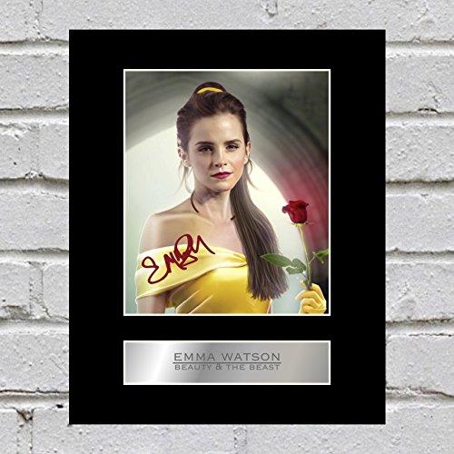 Foto firmada de Emma Watson de la Bella y la Bestia #3