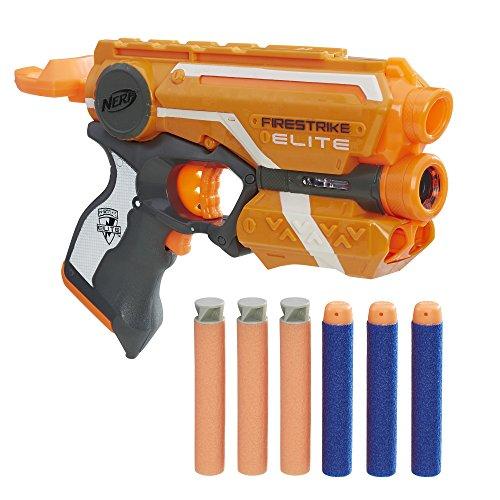 NERF E0441 Elite Accustrike Firestrike (Promo Pack), Spielzeugblaster mit 6 Darts