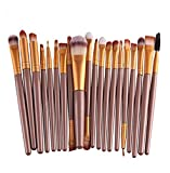 Demarkt® Make up Brush Set 20 Stück Make Up Pinsel Set Schmink Pinselset Etui Schminkpinsel Makeup Brush Set Kosmetik Lidschattenpinsel Gesichtspinsel (Golden)