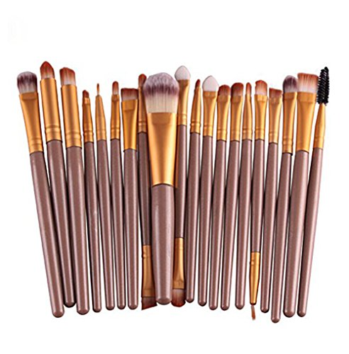 BIGBOBA Lot de 20 pinceaux de maquillage professionnels (rose).