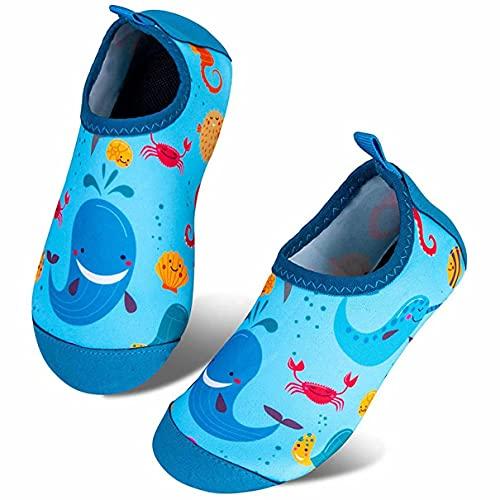 Somic Zapatos de Agua Niños Barefoot Calcetines de Natación Niñas Zapatos De NatacióN para NiñOs Antideslizante Secado RáPido Descalzo Aqua Calcetines Unisex-Niños