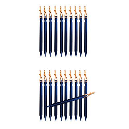 VORCOOL 10 stücke 18 cm Aluminium V-Form Markise Zelt Peg mit String Snow Peg Sand Peg für Pitching Zelt (Blau)