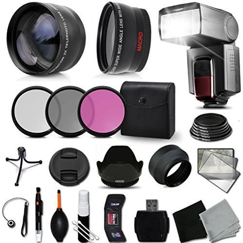 Premium 58mm Accessory Kit for Canon EOS REBEL T6i T6S T5i T5 T4i T3i T3 T2i SL1 EOS 70D 60D 5D 750D 700D 650D 600D 550D 1200D 1100D 100D EOS M3 M2 T1i XTi XT SL1 XSi 7D Mark II DSLR Cameras - Include