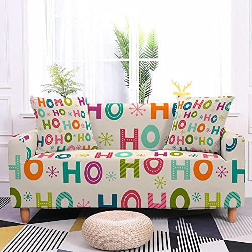 Fundas Sofa Elasticas 3 Plazas Inglés De Color Protector para Sofá de Poliéster Cubre Sofa Estampado Antideslizante Cubre Sofá Protector de Muebles, 2 Funda de Almohada