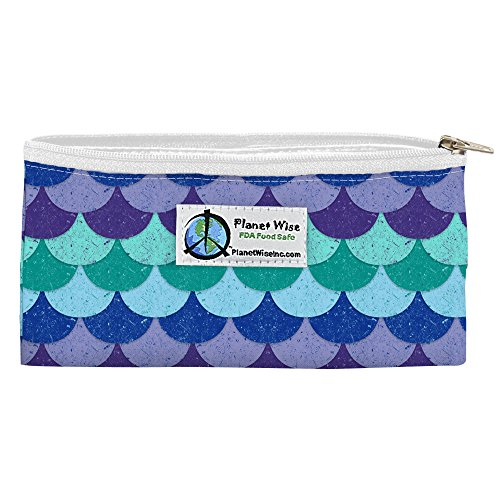 Planet Wise Reusable Zipper Sandwich and Snack Bags, Snack, Mermaid Tail Poly