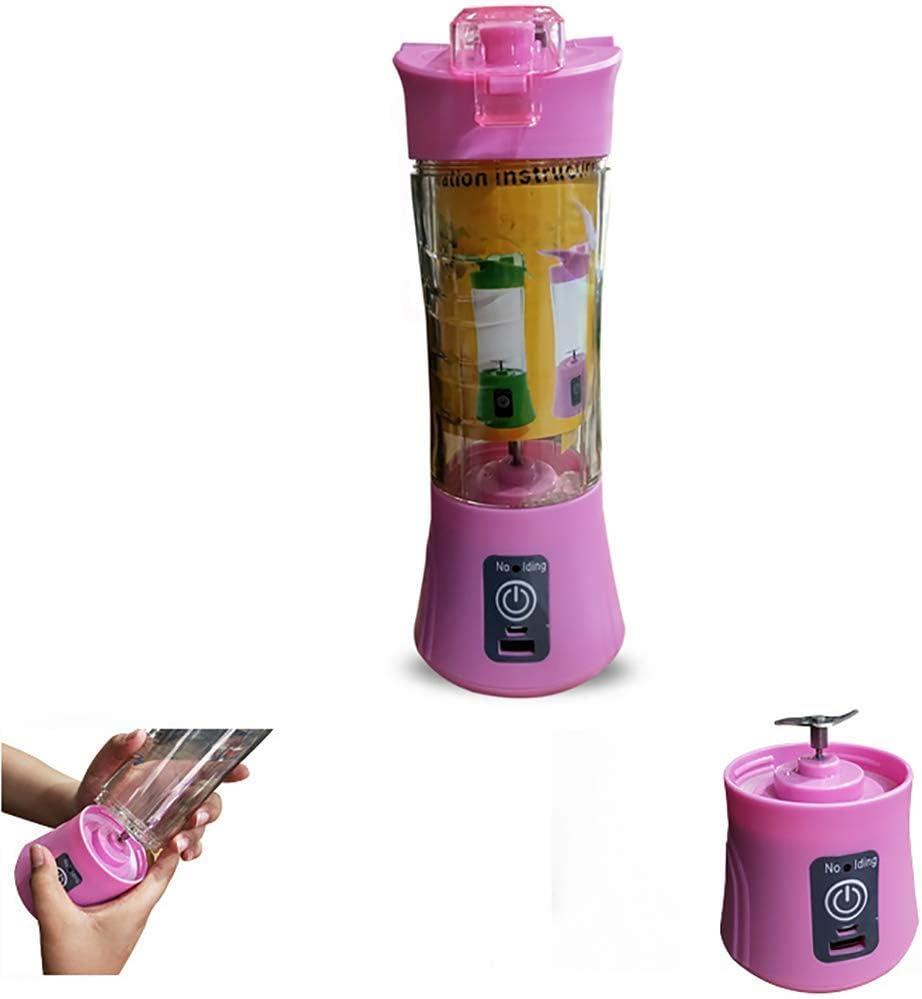 Mezclador eléctrico USB portátil Jugo Copa Mini Mini Exprimidor de múltiples funciones de jugo de la máquina (Color: Rosa) SKYJIE (Color : Pink) Blue
