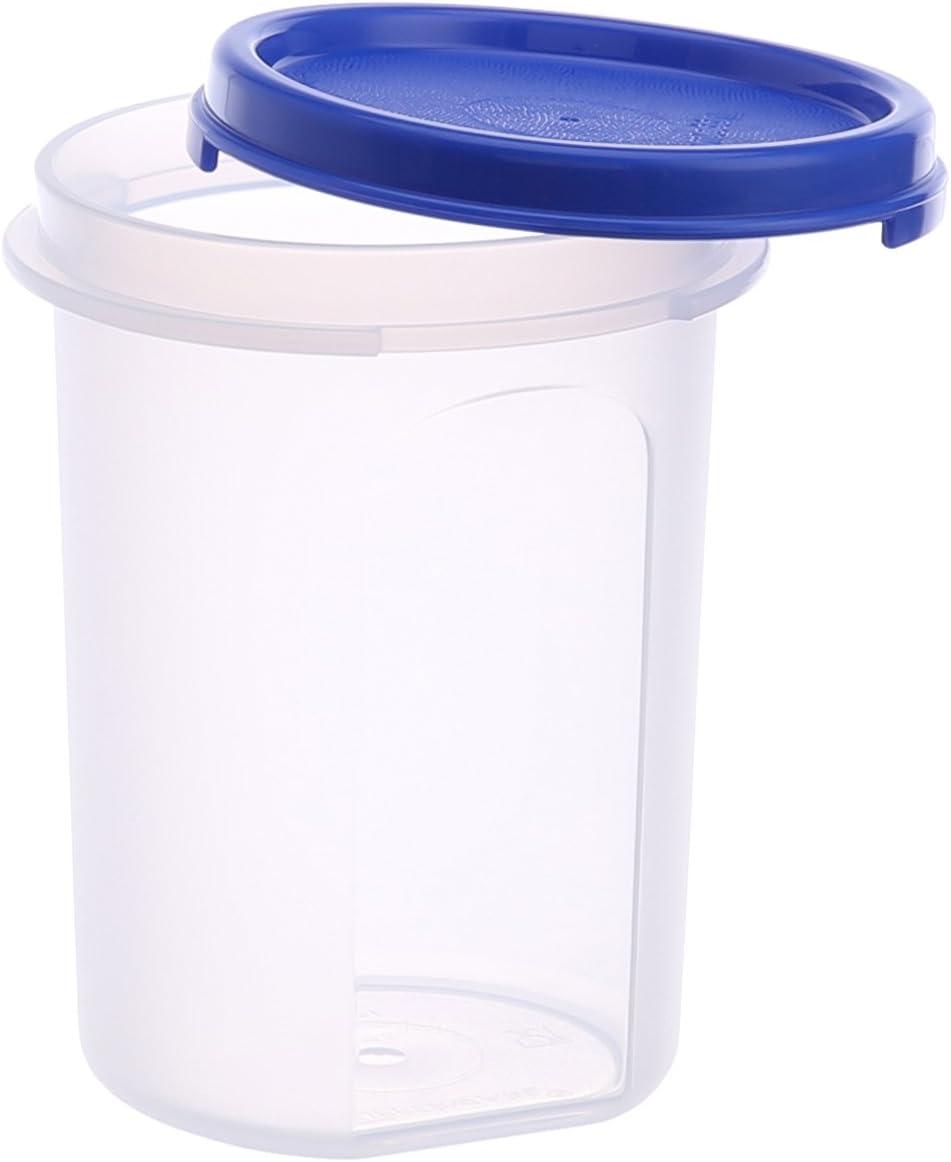 Amazon Com Tupperware Mm Round Container Set 440ml Set Of 4 Home Kitchen Small round container tupperware