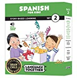 Spanish for Kids: 10 Early Beginner Reader Books with Online Audio and English...