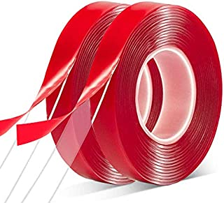 """Double Sided Tape 2 Pack Heavy Duty - 3/4""""10' Acrylic Clear Strong Adhesive Waterproof Removable Double Sided Mounting Tap..."""