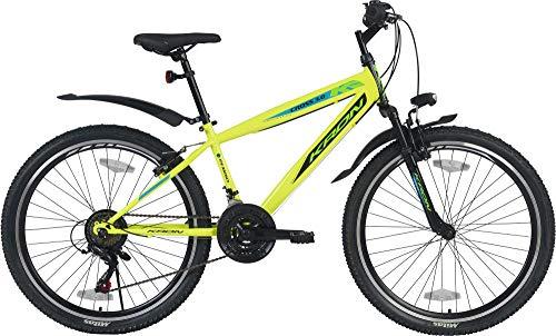 KRON Cross 3.0 Jugendrad 26 Zoll Mountainbike Hardtail Jugend Fahrrad 21 Gang MTB Neon Gelb