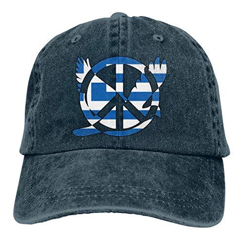 N/A Sombrero De Sol,Dad Hat,Ocio Sombrero,Sombrero De Deporte,Sombreros Sombrilla Al,Bandera Griega Signo De La Paz Símbolo Denim Jeanet Gorra De Béisbol Ajustable Sombrero De Papá
