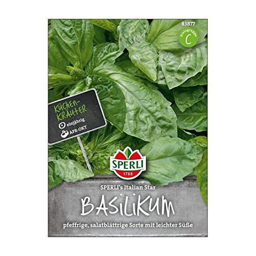 Sperli Gemüsesamen Basilikum Italian Star, grün