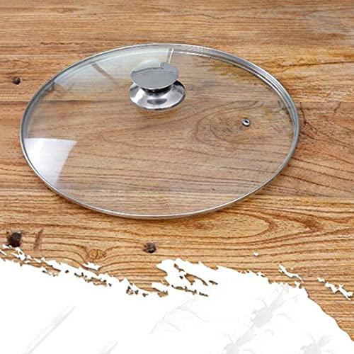 Tapas de Repuesto para Tapas de Cacerolas, Cúpula para Wok Vidrio Acero Inoxidable 31 Cm-36 Cm para Muchas Ollas, Sartenes Sartén Práctica