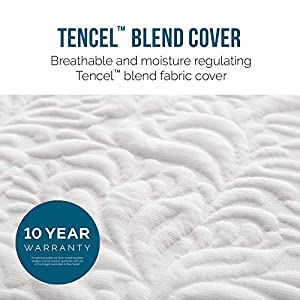 LUCID 16 Inch Plush Gel Memory Foam and Latex Mattress - Four-Layer - Infused with Bamboo Charcoal - Natural Latex and CertiPUR-US Certified Foam - 10-Year Warranty - King