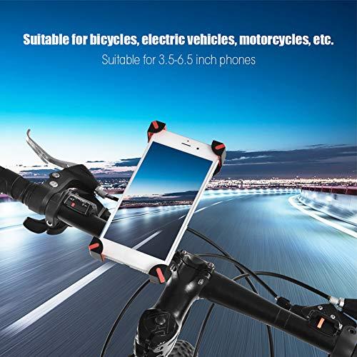 Xirfuni Soporte Robusto Durable del teléfono del GPS del teléfono Celular del Tenedor del teléfono de la Bici para el teléfono(Red)