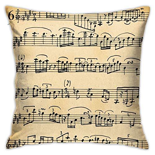 45x45cm Funda Throw Pillow Case Almohada Cojín Partitura Fundas colchón Cojines Decorativa Cuadrado sofá
