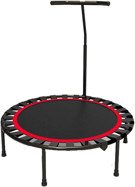 40-Zoll-Indoor-Fitness-Trampolin - Mini-Trampolin - Mit Griff - Trampolin FüR Kinder Und Erwachsene - Zusammenklappbar - HLt 200 Kg Stand