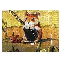 500ピース ジグソーパズル かわいい モルモット パズル 木製パズル 動物 風景 絵 ピクチュアパズル Puzzle 52.2x38.5cm