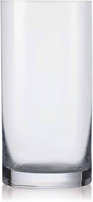 Highball Tumbler Glass Set Of 6 Glasses Lead Free Crystal By Barski Made In Europe 18 Oz