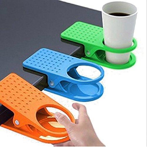 Pixnor Plastikklammer Deskside riesige Clip Tasse Mug Tischhalter (zufällige Farbe)