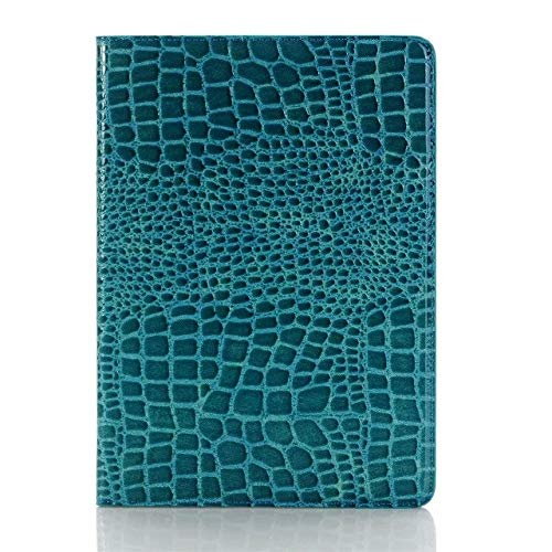 Wangqianli Compatible With IPad 9.7 Inch 2017/2018 (5th/6th Generation)/iPad Air 2/iPad Air Crocodile Leather Flip Stand Light-Weight Tablet Case Cover (Color : Blue)