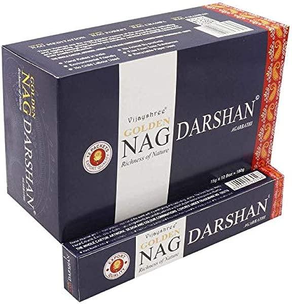 Golden Nag Darshan Incense Sticks Agarbatti Indian Natural Fragrance HandRolled